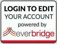 Everbridge Button, reads, &#34Login to edit your account powered by Everbridge.&#34