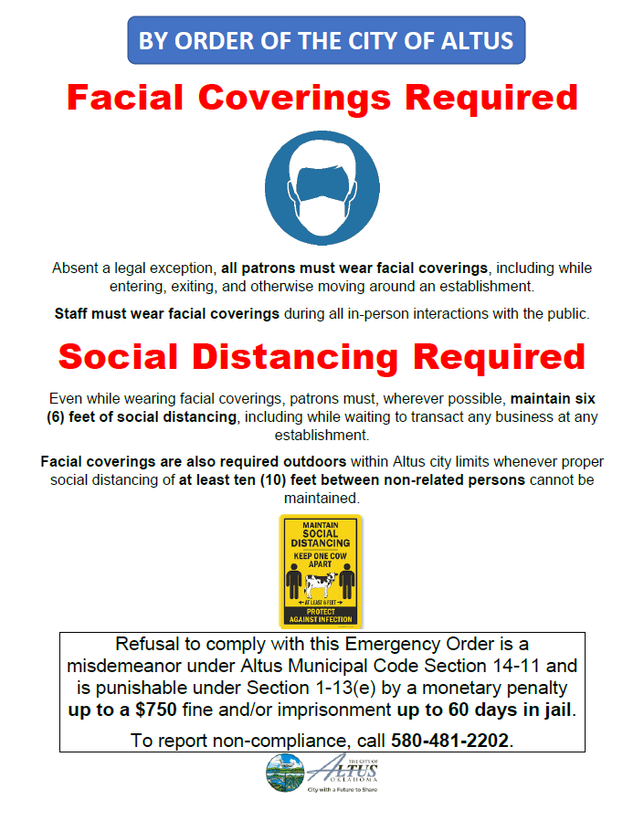 facial covering notice new
